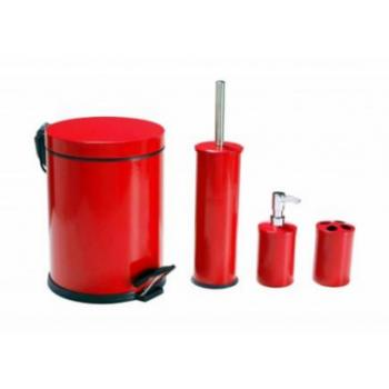 Dibanyo Banyo Seti 4'lü Kırmızı