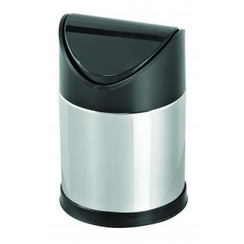 Dibanyo Sallanır Plastik Kapak Çöp Kovası 3 Litre