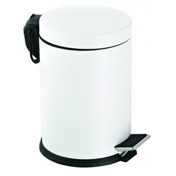Dibanyo Pedallı Çöp Kovası Beyaz 12 Litre