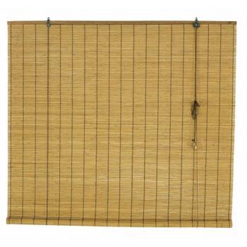 Ahşap Görünümlü Bambu Stor Perde Kahve 80x180 cm