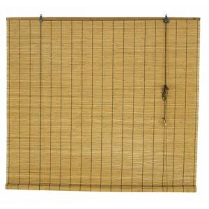 Ahşap Görünümlü Bambu Stor Perde Kahve 120x180 cm