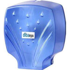 Jumbo Wc Kağıtlık Plastik Şeffaf Mavi