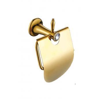 Stilla Gold Kapaklı Tuvalet Kağıtlık Altın Renkli