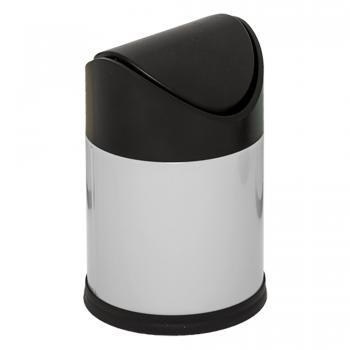 Dibanyo Sallanır Kapak Çöp Kovası 1,5 Litre Beyaz